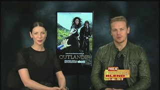 Outlander with Caitriona Balfe and Sam Heughan 04/07/2015