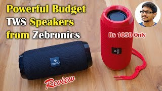 Powerful Budget TWS Speakers from Zebronics Unboxing & Review...