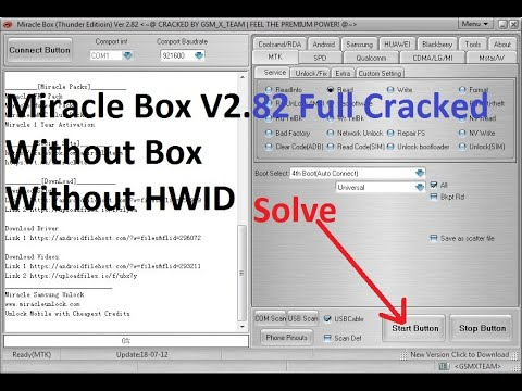Miracle Box Thunder V2.82 || Start Button Hide Problem (Solve) Crack Without Box Without HWID