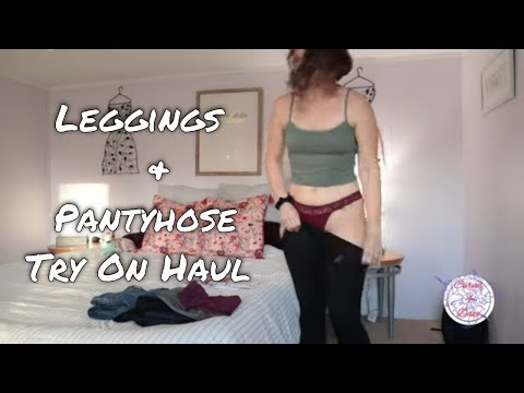 Leggings Try On and Tights Try On Haul 2019 pt. 1