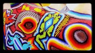 Huichol Art Rhinoceros Head with glass eye