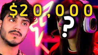 بنت تتحداني على 20,000$ 1v1 a Girl