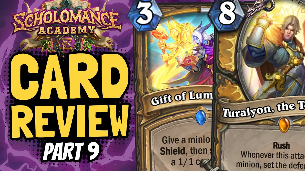 WORST LEGENDARY SO FAR?? And a SUPER STRONG New Buff! | Scholomance Review #9 | Hearthstone thumbnail
