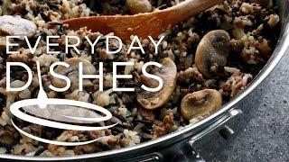 Hamburger Mushroom And Wild Rice