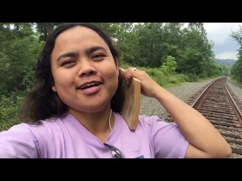 Walking on Rail road tracks in East Millsboro, Pennsylvania | AMERICAN-FILIPINA LIFE VLOG