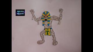 как нарисовать МУМИЮ на ХЭЛЛОУИН/299/ How to draw a MUMMY for Halloween