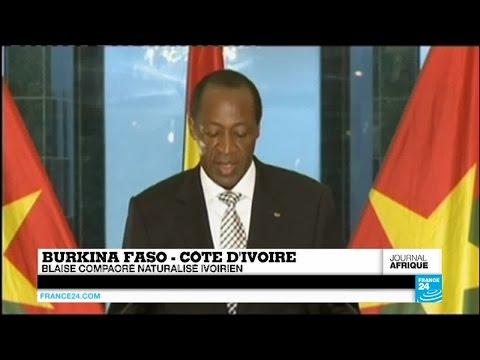 Blaise Compaore, l'ex-président burkinabè, est devenu Ivoirien