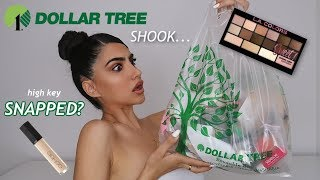 I TRIED DOLLAR TREE MAKEUP FOR THE FIRST TIME...IM SHOOK!