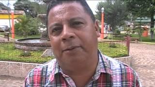 Rigoberto Hernandez Alcalde de Marcala La Paz Honduras informando proyectos de agua y saneamiento