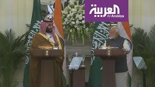 كلمة ولي العهد السعودي الأمير #محمد_بن_سلمان بحضور رئيس الوزراء الهندي
