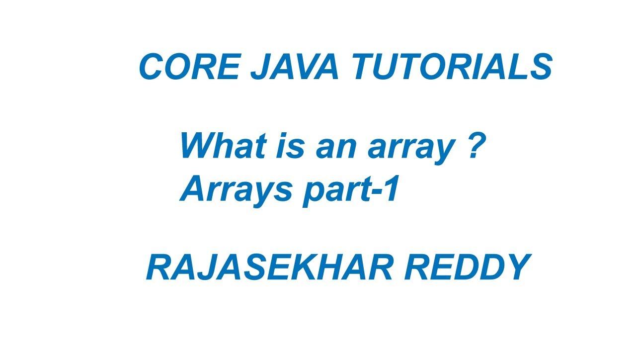 Core java || Arrays part -1 | Arrays in Java | |Java