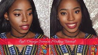 Red/Orange Summer Makeup Tutorial 💋