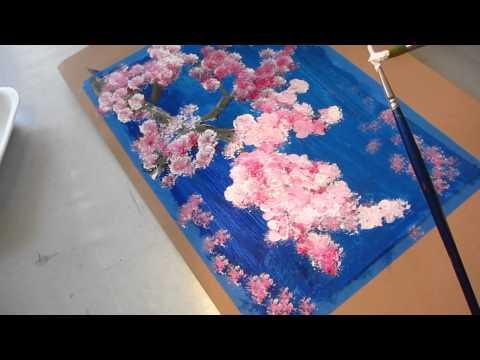 Acrylic painting - cherry blossom
