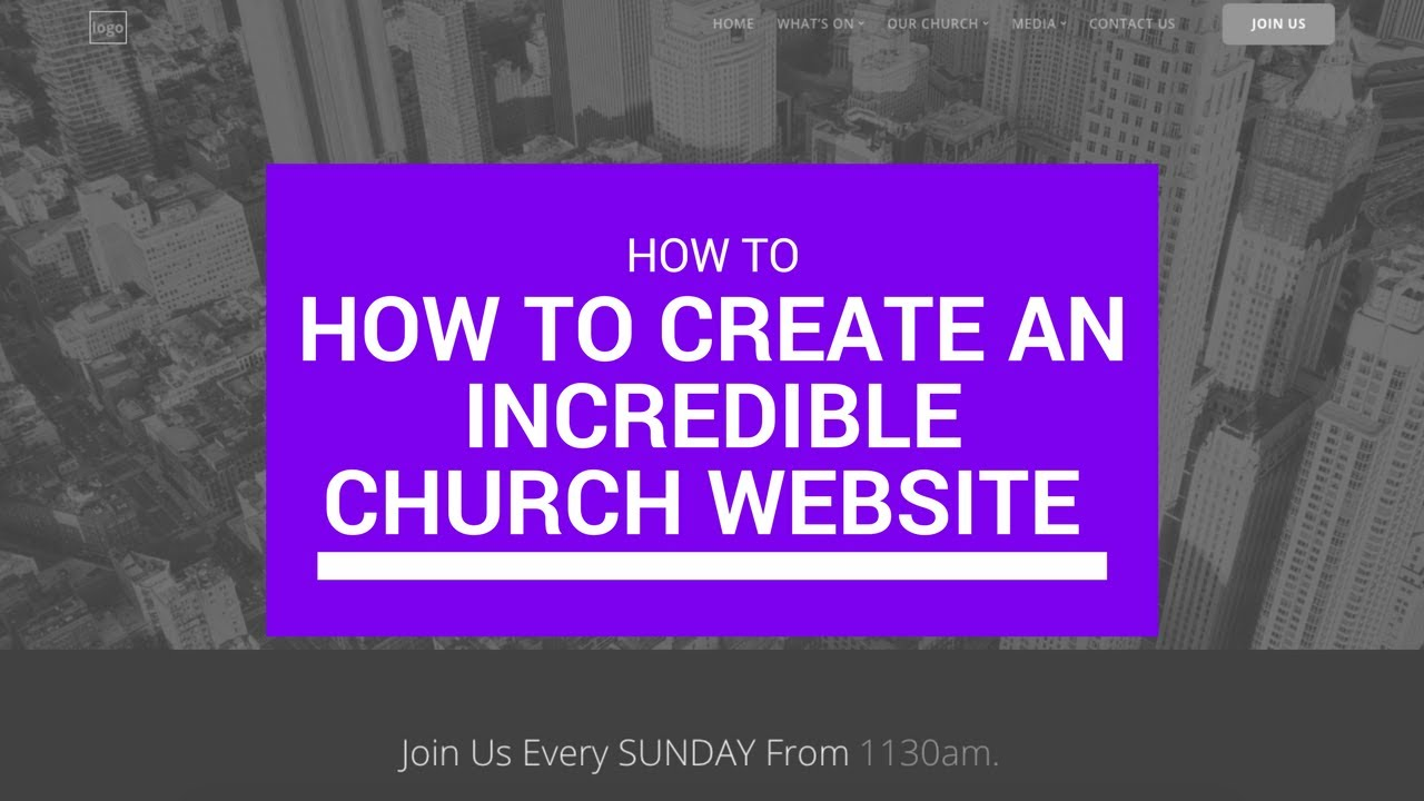 How to Create an Incredible Church Website with Wordpress Online ...