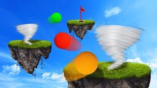CRAZY TORNADO SKILL COURSE! (Golf It)