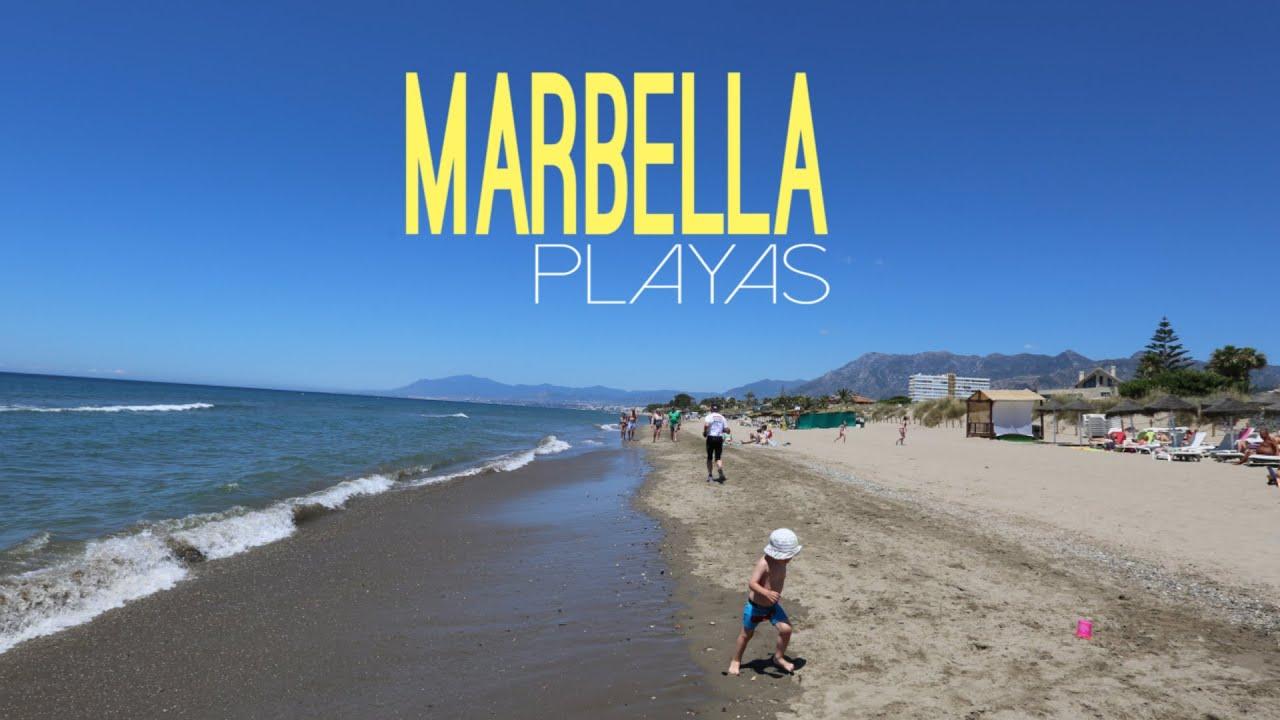 fotos playas marbella espana