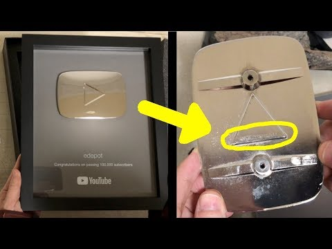 YouTube Silver Play Button Secrets (edepot's 100K Subscribers Silver Creator Award Unboxing)