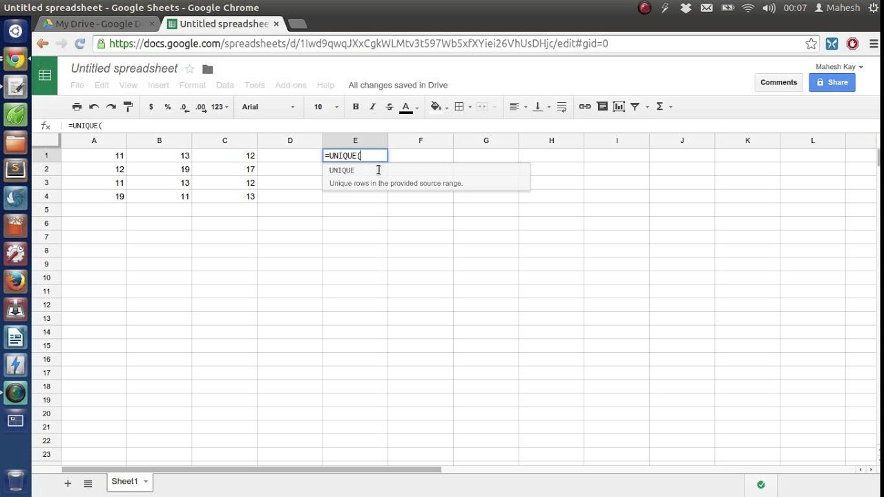 find and remove duplicate rows in google spreadsheet youtube