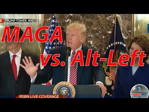 """Trump's Powerful Press Conference Calling Out """"Alt-Left"""" #Charlottesville"""