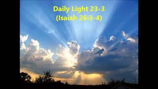 Daily Light 23-3 (Isaiah 26:3-4)