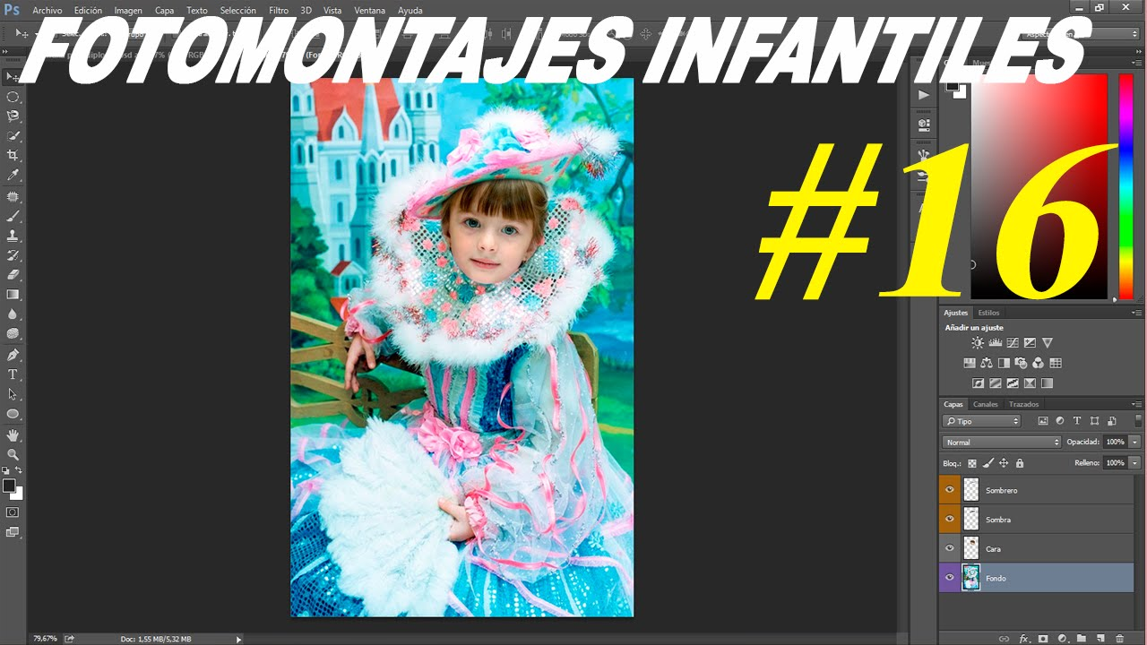 Plantillas psd para fotomontajes niños y niñas │Editables por capas ...