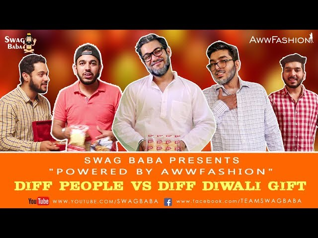 Different People V/s Different Diwali Gifts || Swag Baba || Diwali 2017 || Funny Diwali Videos