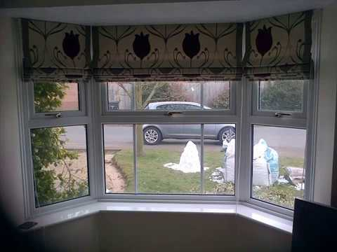 Roman Blinds For Bay Windows Design Ideas Youtube