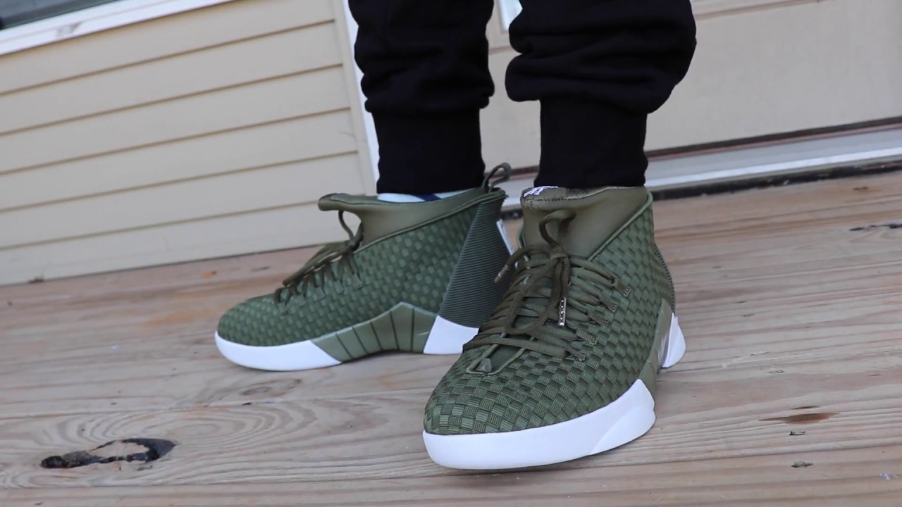 a65bcec5528 PSNY X JORDAN RETRO 15 OLIVE ON FOOT LOOK!!!!!! - YouTube