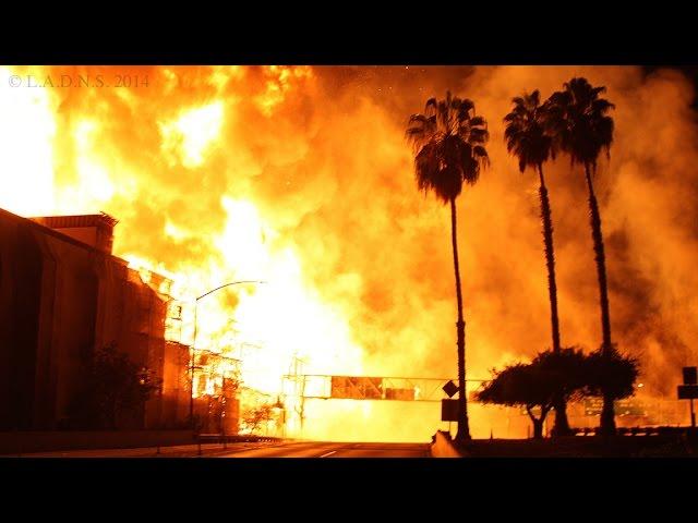 L.A. Construction Site Inferno / LAFD / Part 1 of 2 / Da Vinci Apartments Fire