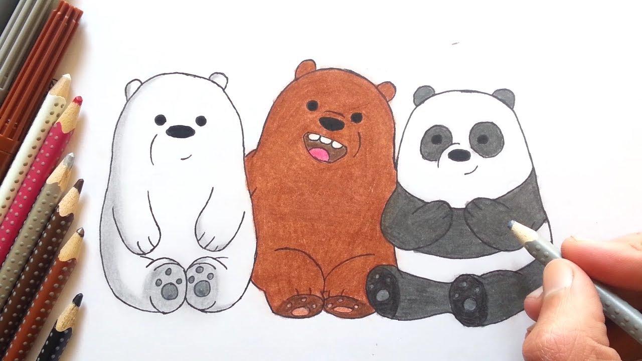 رسم الدببة الثلاثة We Bare Bears خطوة بخطوة Youtube