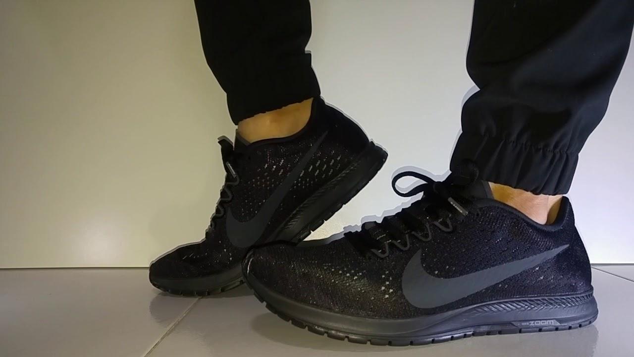 8cabe2408 What are Thoze !  - Nike Zoom Streak 6 (Triple Black) On Feet - YouTube