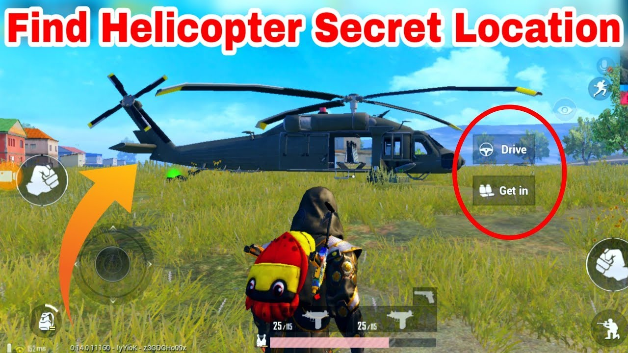 How To Find Helicopter Location in PUBG Mobile | Can We Drive This Helicopter?