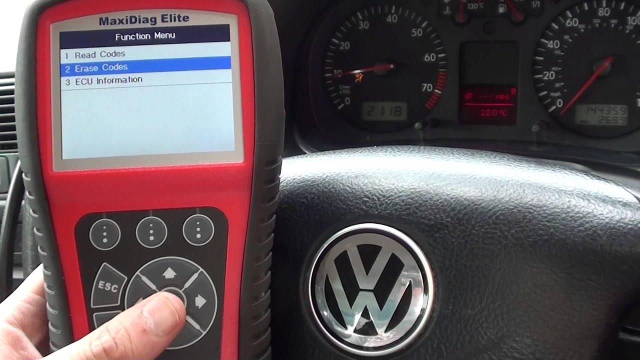 VW Golf R >> VW Golf Airbag Light Reset 01218 Code Autel MD702 MD802 ...
