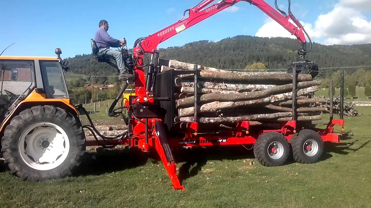 tracteur forestier avec remorque occasion