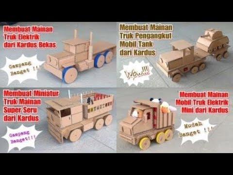 Top 4 Cara Membuat Mainan Mobil Truk Dari Kardus Kerajinan Dari