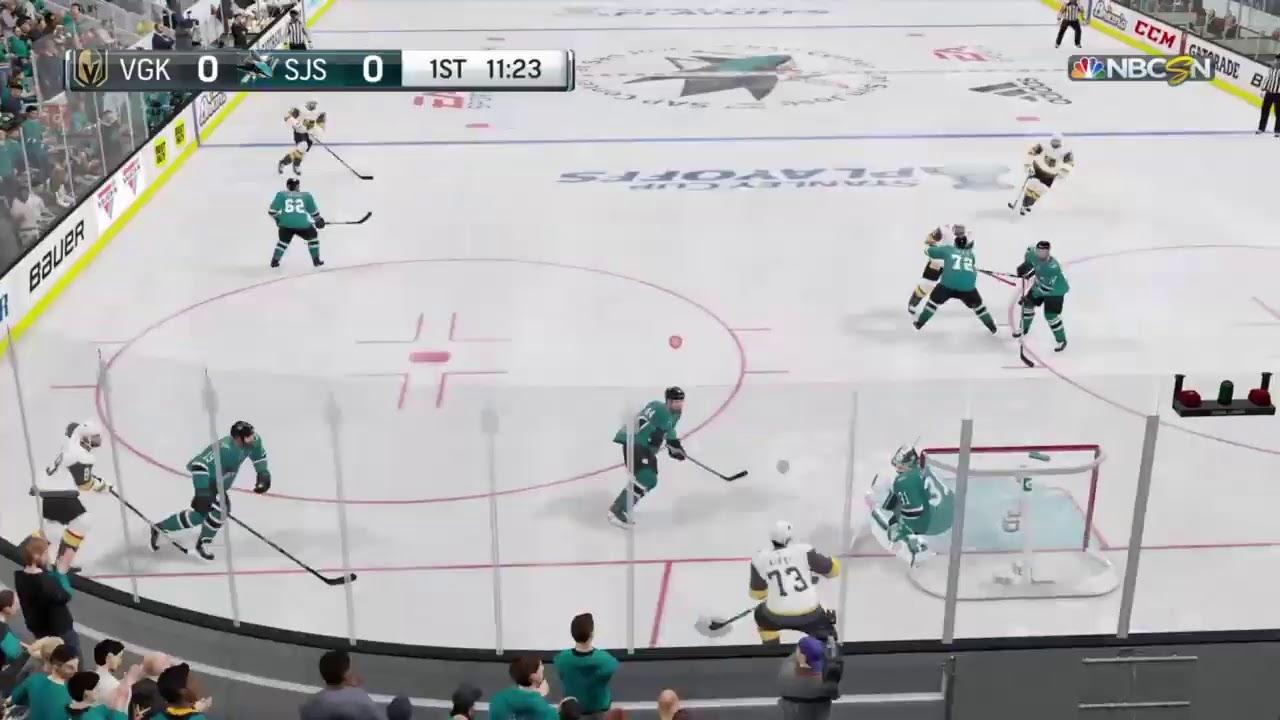 NHL 19 Stanley Cup Playoffs 2019 VGK @ SJS Game 2 Round 1