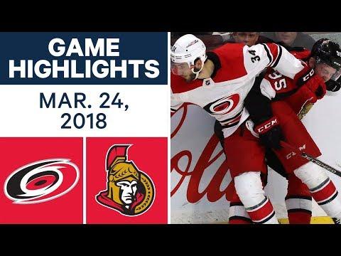 NHL Game Highlights | Hurricanes vs. Senators - Mar. 24, 2018