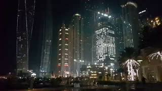 Dubai Marina Skyscrapers at night 16.08.2016