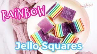 Rainbow Jello Layers Recipe