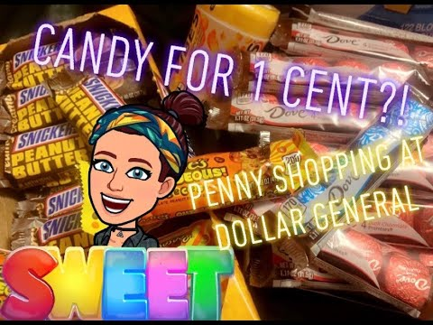 SWEET DEAL! Candy For ONLY 1 CENT!?! PENNY SHOPPING At Dollar General!!