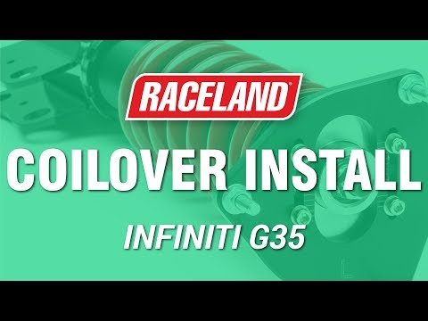 How To Install Raceland Infiniti G35 Coilovers Youtube