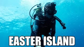 Diving in Easter Island (Rapa Nui) - clear waters of the Pacific Ocean