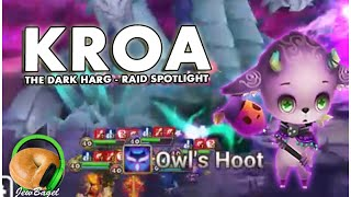 SUMMONERS WAR : Kroa the Dark Harg - Rift of Worlds R4 Raid Spotlight