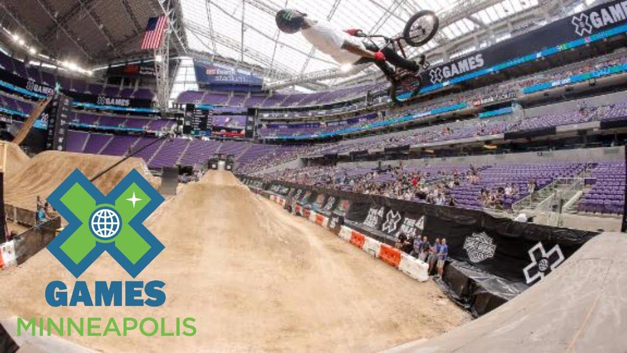 X Games Bmx Kyle Baldock qualifies...