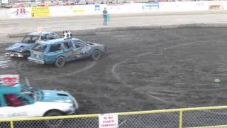 8-7-13 benton county fair demolition derby sauk rapids mn