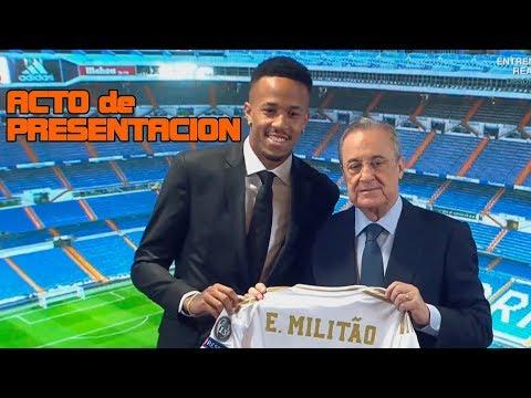 Presentación de Eder MILITAO como jugador del REAL MADRID (10/07/2019) - 동영상