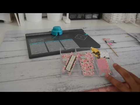 6x6 paper   DIY Embellishment Ideas   Mini Bottles & banners   WRMK   Envelope Punchboard