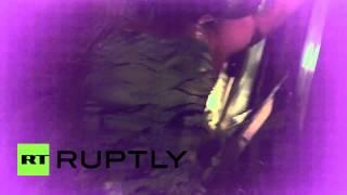 Russia: Watch Moscow Metro crash survivors escape through emergency exit
