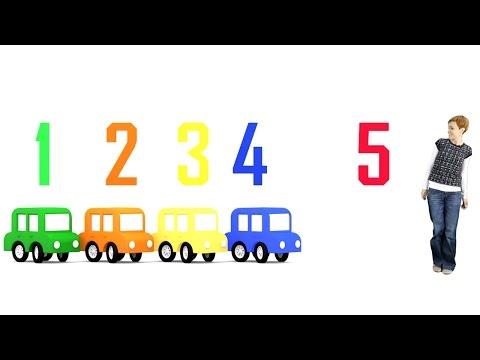 Развивающий мультфильм и игра для детей учим цифры. 4 машинки. Цифра 4