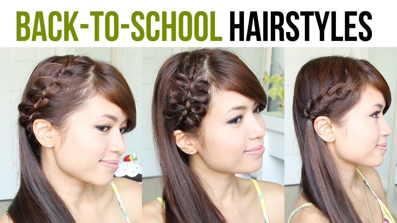 Back To School Hairstyles: 4-Strand French Braid & Bow